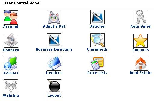 User Control Panel Picture